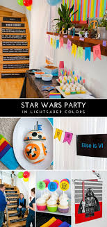 wars birthday party wars birthday party in lightsaber colors decorations