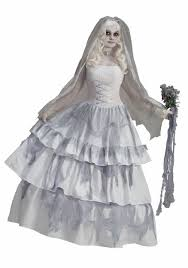 zombie costume spirit halloween victorian ghost bride costume