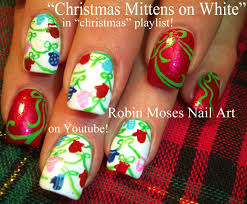 easy christmas nails xmas mittens nail art design tutorial youtube