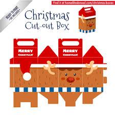 christmas box template reindeer printable u2013 merry christmas