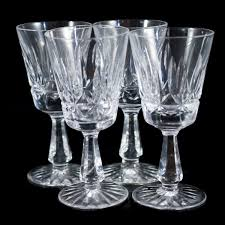 waterford crystal l base description set of 4 waterford crystal glasses featuring ornate