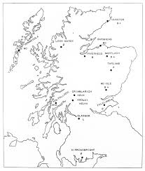 Map Of Glasgow Scotland File Map Of Scotland With Rites In Archaeology Wellcome M0002544
