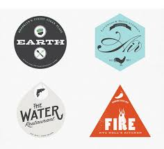 earth air water branding identity project logos