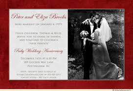 wedding anniversary dinner card invitation beautiful photo