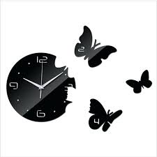 pendule cuisine design horloge murale de cuisine design pour salon wall sticker socialfuzz me