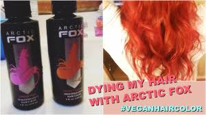 dying my hair with arctic fox hair color sunset orange virgin