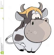 best hd small cow cartoon spotty yellow hair design