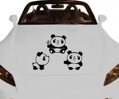 autoaufkleber design autoaufkleber panda aufkleber auto sticker tiere design