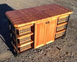 island 30x56 end grain butcher block with casters foxcreek baskets