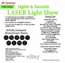 mr animated and musical laser light show