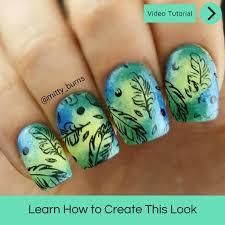 autumn leaves nail art u2013 mitty nail art tools u0026 brushes