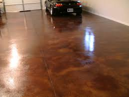 picture of a recent garage epoxy floor by barefoot in scottsdale