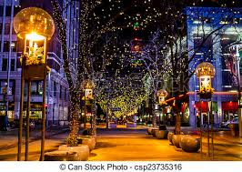 stock photography of holiday lights in denver colorado usa