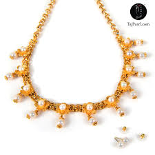 pearl necklace jewellery making images Gold plated jewellery pearl necklaces jpg