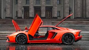 Lamborghini Aventador Orange - car lamborghini orange lamborghini aventador rain wallpapers