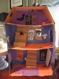 building a cardboard haunted house halloween crafts at home