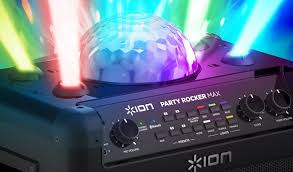 ion bluetooth speaker with lights ion audio shouts par ty par ty with two new party rocker