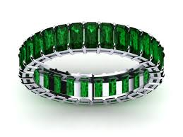 emerald bands rings images White gold emerald eternity ring best of anniversary rings jpg