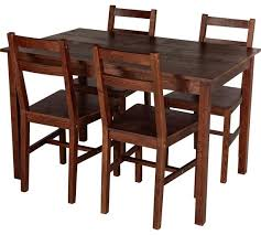 Dining Room Tables And Chairs For 4 Cool Buy Home Raye Solid Wood Dining Table 4 Chairs Dark Pine At