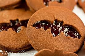 chocolate halloween cookies with jam cut out delicious everyday