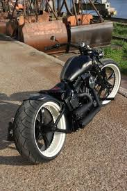 Double White Wall Motorcycle Tires Old Meets New Bobber I Love The Powder Coated Wheel To Play On