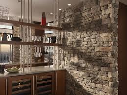 outstanding backsplash using cobblestone material myohomes