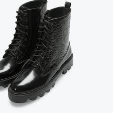 womens boots zara 59 zara shoes s zara black croc boots from