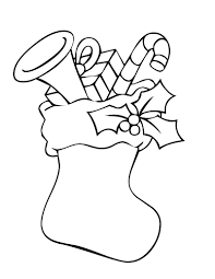 holiday coloring pages throughout christmas stockings glum me