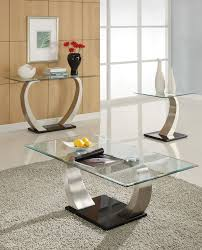 Chrome And Glass Coffee Table Alena Modern Chrome Glass Coffee Table