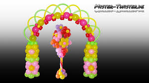 decor awesome how to make flower balloon decorations home design