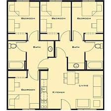 4 bedroom house plan small house plans 4 bedrooms shoise com