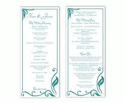Wedding Bulletin Template Wedding Program Template Diy Editable Text Word File Download