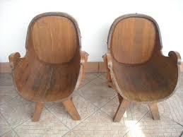 poltrone vecchie vecchia coppia sedie a poltrona legno di botte anni 50 annunci