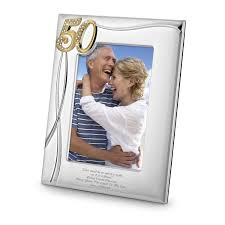 50th anniversary photo album anniversary frame
