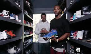 victor cruz u0027s sneaker closet needs a sneaker closet for all his
