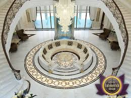 beautiful exclusive marble floors of luxury antonovich design