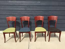 Made Dining Chairs Set 4 Mid Century Modern Dining Chairs Sa A Sibau Made