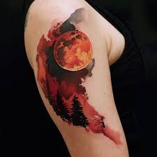 70 eye catching sleeve tattoos blood moon and