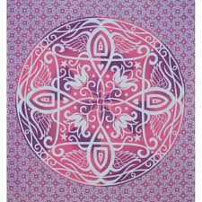 Indian Inspired Bedding Mandala Boho Style Pink Purple Indian Hippy Wall Hanging Tapestry