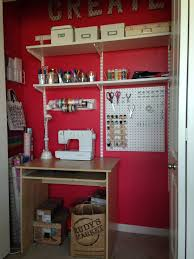 craft closet paint feverish red by sw peg board home depot