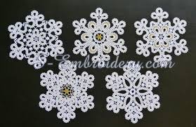 snowflake free standing lace ornaments set sku10649