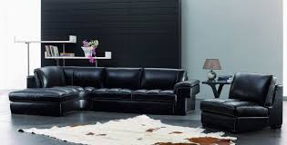 Side Table For Sectional Sofa by Black Leather Sectional Sofa With Couch And Black Glasss Top Side