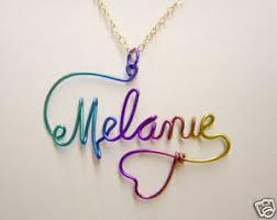 Personalized Charm Necklaces Personalized Name Jewelry Charm Necklace Niobium Wire Wire Craft