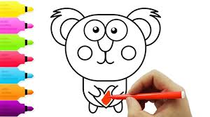 animal coloring pages for kids drawing and coloring koala youtube