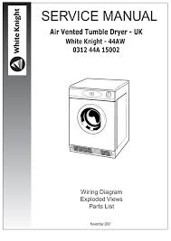 white knight tumble dryer wiring diagram gooddy org