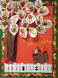 fall autumn s school bulletin board happy fallidays great