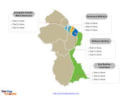 Blank Map Of El Salvador by Free Guyana Powerpoint Map Free Powerpoint Templates