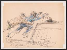 new exhibit highlights the art of the courtroom sketch smart