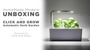 robot garden unboxing the click and grow smart herb garden youtube