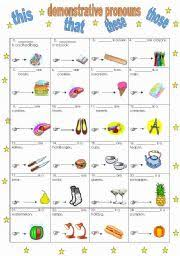english worksheet demonstrative pronouns this that these